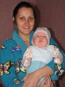 Мама Лілія із синочком Єгором